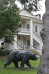 grizzly bear statue, colton hall