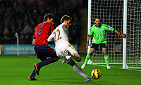 Sunday, 28 November 2012<br /> Pictured: (L-R) Claudio Yacob, Angel Rangel and Boaz Myhill.<br /> Re: Barclays Premier League, Swansea City FC v West Bromwich Albion at the Liberty Stadium, south Wales.