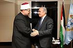 Palestinian Prime Minister Mohammad Ishtayeh, meets with Egyptian Minister of endowments in Cairo, Egypt, on October 8, 2019.  Photo by Prime Minister Office