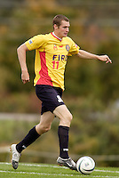 The Fire's Nate Jaqua. The MetroStars defeated the Chicago Fire 2-0 during the inaugural Hall of Fame game on Monday October 11, 2004 at At-A-Glance Field at the National Soccer Hall of Fame and Museum, Oneonta, NY..