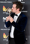 Raul Arevalo win the award at Feroz Awards 2017 in Madrid, Spain. January 23, 2017. (ALTERPHOTOS/BorjaB.Hojas)