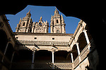 Public Library and the Real Clerica de San Marcos, University of Salamanca, Castile and Leon, Spain