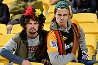 Chiefs fans during the Super Rugby - Hurricanes v Chiefs at Westpac Stadium, Wellington, New Zealand on Friday 13 April 2018.<br /> Photo by Masanori Udagawa. <br /> www.photowellington.photoshelter.com