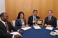Encuentro del  presidente Leonel  Fernández con alcalde Jerusalén