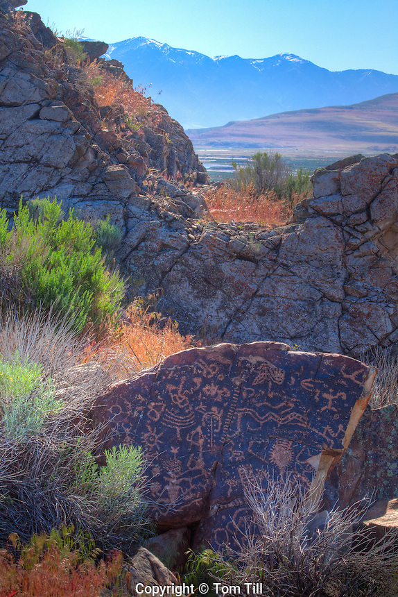 Ancient Fremont rock art, Wasatch Mountains, Utah, Near Great Salt Lake, Ancient Native American rock art