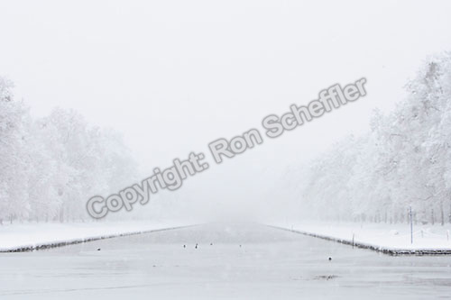 March 4, 2006; Munich, Germany; Heavy snowfall accumulates on the trees and grounds at Schloss Nymphenburg park in Munich. Photo © Ron Scheffler