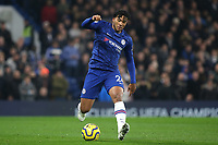 Reece James of Chelsea in action during Chelsea vs Aston Villa, Premier League Football at Stamford Bridge on 4th December 2019