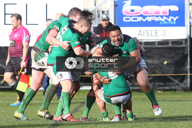 NELSON, NEW ZEALAND -JULY 30: Tasman Rugby League Final Richmond Rabbits v Wanderers Wolves Trafalgar Park on July 30 2016 in Nelson, New Zealand. (Photo by: Evan Barnes Shuttersport Limited)