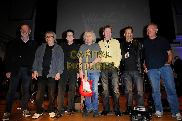 LONDON, ENGLAND - March 1: Bob Harris, Bill Wyman, Shakin' Stevens, Albert Lee, Joe Brown, Gary US Bonds and Ralph McTell at the Albert Lee 70th Birthday Celebration concert at Cadogan Hall on March 1, 2014 in London, England<br /> CAP/MAR<br /> &copy; Martin Harris/Capital Pictures
