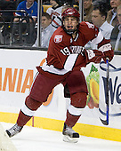 Steve Rolecek (Harvard - 19) - The Harvard University Crimson defeated the Northeastern University Huskies 3-1 on Monday, February 4, 2008, in the opening game of the 2008 Beanpot at TD Banknorth Garden in Boston, Massachusetts.