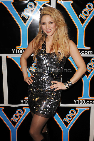 SUNRISE, FL - DECEMBER 12 : Shakira poses backstage at the Y-100 Jingle ball held at the Bank Atlantic center on December 12, 2009 in Fort Lauderdale Florida. Credit: mpi04/MediaPunch