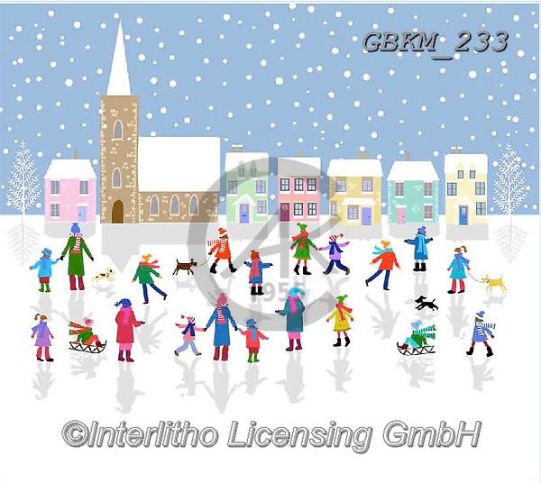 Kate, CHRISTMAS LANDSCAPES, WEIHNACHTEN WINTERLANDSCHAFTEN, NAVIDAD PAISAJES DE INVIERNO, paintings+++++Christmas page 90,GBKM233,#XL#