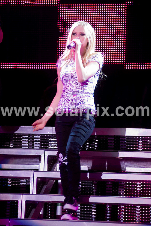 "**ALL ROUND PICTURES FROM SOLARPIX.COM**.**SYNDICATION RIGHTS FOR UK, SPAIN, PORTUGAL, AUSTRALIA, S.AFRICA & DUBAI (U.A.E) ONLY**.Singer Avril Lavigne on  ""The Best Damn Tour 2008"" - In Chicago USA .JOB REF: 5998    PHZ    DATE: 21.03.08.**MUST CREDIT SOLARPIX.COM OR DOUBLE FEE WILL BE CHARGED* *UNDER NO CIRCUMSTANCES IS THIS IMAGE TO BE REPRODUCED FOR ANY ONLINE EDITION WITHOUT PRIOR PERMISSION*"