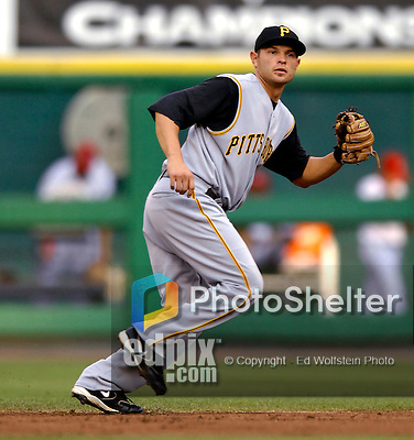 5 June 2007: Pittsburgh Pirates second baseman Freddy Sanchez in action against the Washington Nationals at RFK Stadium in Washington, DC. The Pirates defeated the Nationals 7-6, in the first game of their 3-game series...Mandatory Credit: Ed Wolfstein Photo