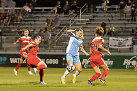 Boyds, MD - Saturday June 03, 2017: Kealia Ohai, Estelle Johnson, Whitney Church during a regular season National Women's Soccer League (NWSL) match between the Washington Spirit and Houston Dash at Maureen Hendricks Field, Maryland SoccerPlex.