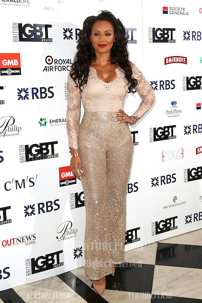 Mel B, Melanie Brown at The British LGBT Awards at the Grand Connaught Rooms, London.<br /> May 13, 2016  London, UK<br /> Picture: James Smith / Featureflash