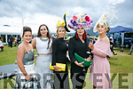 Enjoying the Killarney Races on Thursday were Christina O'Shea, Rachel Walsh, Aine Wall, Rebekah Wall and Rebekah Wall,