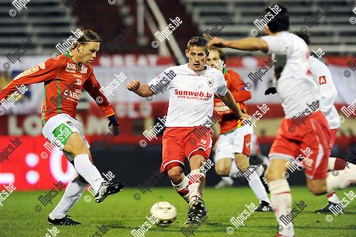2010-11-27 / Voetbal / seizoen 2010-2011 / Antwerp FC - KV Oostende / Kevin Oris (Antwerpen) aan de bal..Foto: Mpics
