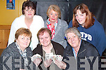 POKER CLASSIC: Organising a Poker Classic fundraising night in aid of the Ardfert Branch of the Kerry Hospice Foundation in McElligott's Bar, Ardfert, on Friday evening were front l-r: Mary O'Halloran, Kathleen O'Connor and Peggy Geary. Back l-r: Marian Fitzgerald, Judy Leahy and Helen Geary.   Copyright Kerry's Eye 2008