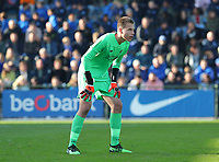 20191023 - Genk: Liverpool's keeper Jakub Ojrzynski is pictured during the UEFA Youth League group stages match between KRC Genk Youth and Liverpool FC on October 23, 2019 at KRC Genk Stadium Arena B, Genk, Belgium. PHOTO:  SPORTPIX.BE   SEVIL OKTEM