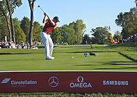 Jordan Spieth(Team USA) on the 14th tee during Saturday afternoon Fourball at the Ryder Cup, Hazeltine National Golf Club, Chaska, Minnesota, USA.  01/10/2016<br /> Picture: Golffile | Fran Caffrey<br /> <br /> <br /> All photo usage must carry mandatory copyright credit (&copy; Golffile | Fran Caffrey)