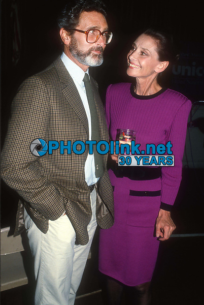 Audrey Hepburn Robert Wolders 1983<br /> Photo By John Barrett/PHOTOlink.