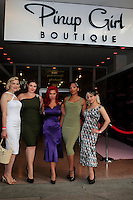 LOS ANGELES - AUG 3: Pinup Girls at the opening of the 'Pinup Girl Boutique' on August 3, 2012 in Burbank, California