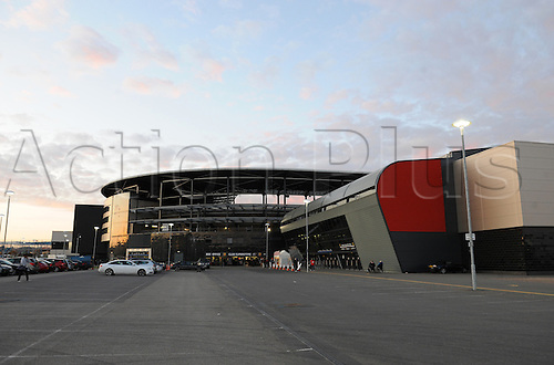 20.03.2012 Milton Keynes, England. Milton Keynes Dons versus Leyton Orient.  Stadium MK at sunset shortly before the NPower League 1 game.