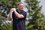 David May tees off during the World Celebrity Pro-Am 2016 Mission Hills China Golf Tournament on 22 October 2016, in Haikou, China. Photo by Victor Fraile / Power Sport Images