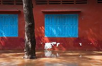 Flooded school in Siem Reap during the Monsoon, Cambodia