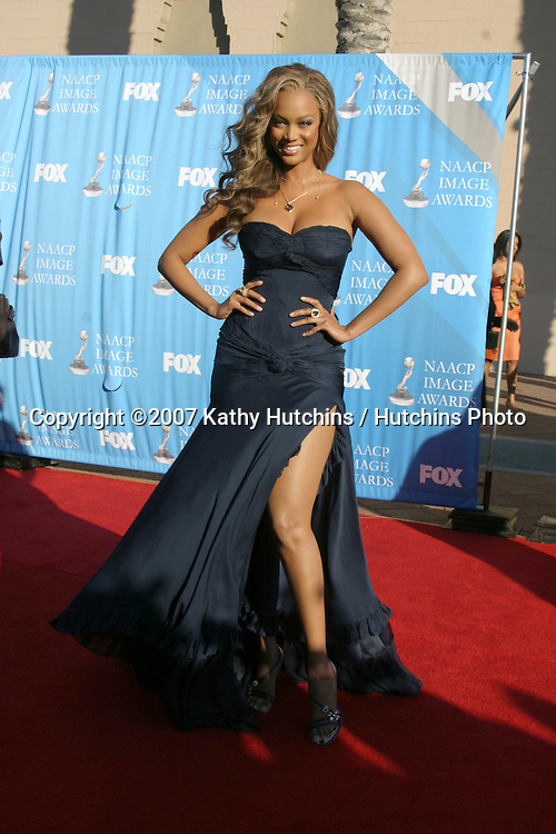 Tyra Banks.NAACP Image Awards.Shrine Auditorium.Los Angeles, CA.March 2, 2007.©2007 Kathy Hutchins / Hutchins Photo...