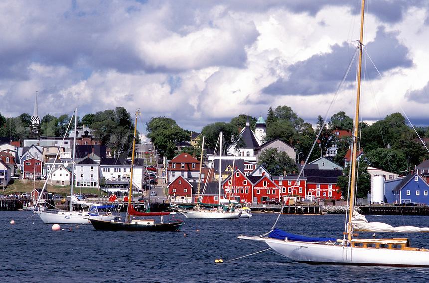 Nova Scotia, Lunenburg, NS, Canada, Scenic village of Lunenburg, UNESCO World Heritage Site, on the Atlantic Ocean.