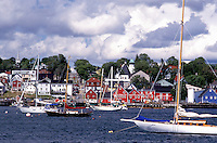 Nova Scotia, Lunenburg, NS, Canada, Scenic village of Lunenburg, UNESCO World Heritage Site, on the Atlantic Ocean.