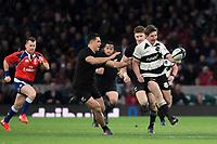 Twickenham, Surrey. England.  Ardie SAVEA, kick's  through   during the Killik Cup, Barbarians vs New Zealand. Twickenham. UK<br /> <br /> Saturday  04.11.17<br /> <br /> [Mandatory Credit Peter SPURRIER/Intersport Images]