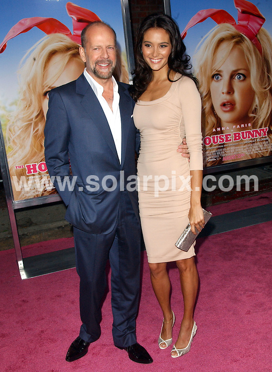 "**ALL ROUND PICTURES FROM SOLARPIX.COM**.**SYNDICATION RIGHTS FOR UK, SPAIN, PORTUGAL, AUSTRALIA, S.AFRICA & DUBAI (U.A.E) ONLY**.arrivals for the Los Angeles Premiere of ""The House Bunny"" at Mann's Village Theatre, Westwood, CA, USA. 20th August 2008..This pic: Bruce Willis and Emma Heming..JOB REF: 7061 PHZ/Ortega    DATE: 20_08_2008.**MUST CREDIT SOLARPIX.COM OR DOUBLE FEE WILL BE CHARGED* *UNDER NO CIRCUMSTANCES IS THIS IMAGE TO BE REPRODUCED FOR ANY ONLINE EDITION WITHOUT PRIOR PERMISSION*"