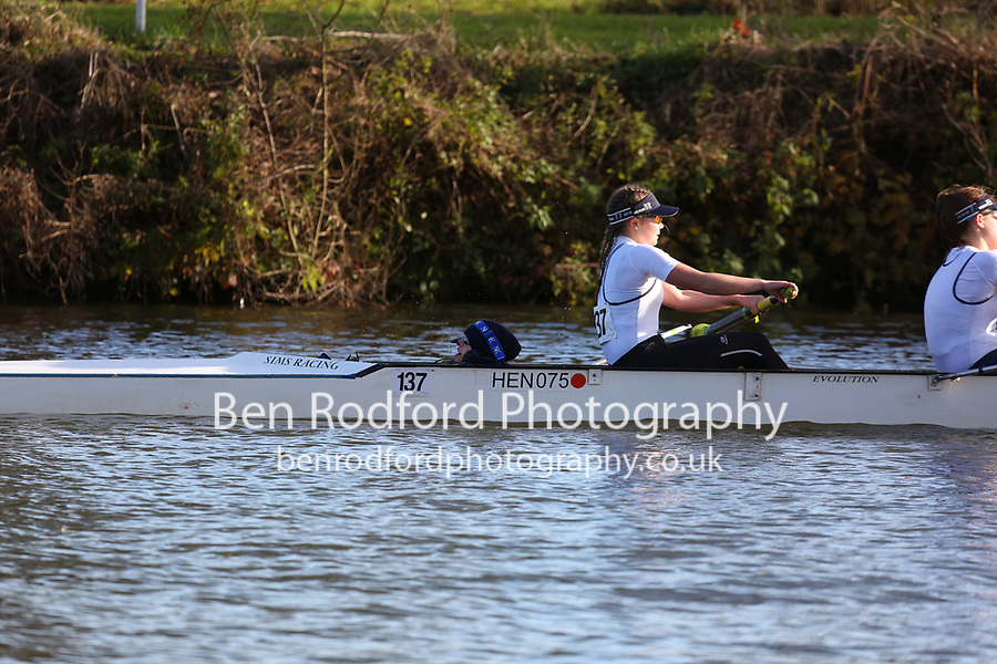 Crew: 137   W J15 4+   Henley Rowing Club   HEN-THOMPSON<br /> <br /> Wallingford Head 2017<br /> <br /> To purchase this photo, or to see pricing information for Prints and Downloads, click the blue 'Add to Cart' button at the top-right of the page.