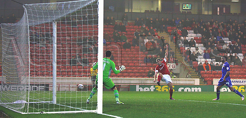 24.11.2012 Barnsley, England. Barnsley's Stephen Dawson shoots wide during the Championship game between Barnsley and Cardiff City from Oakwell.