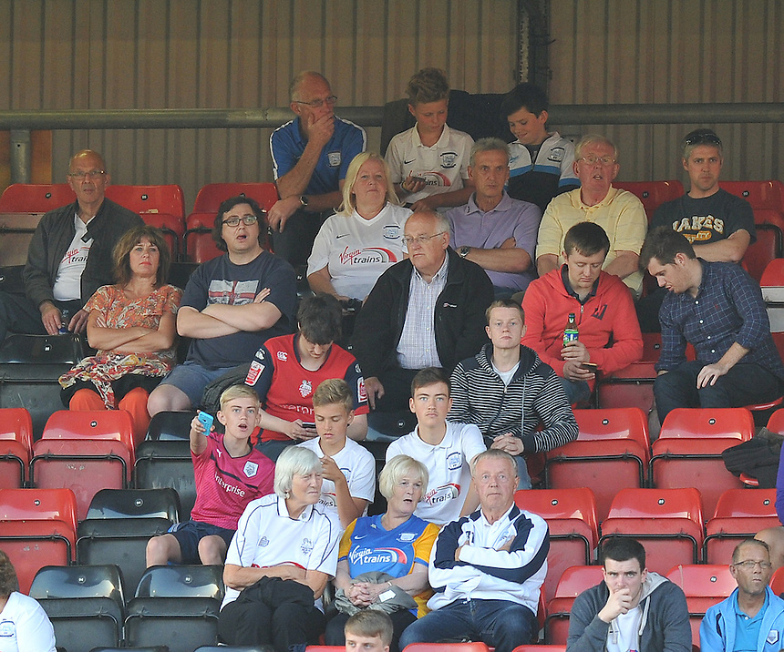 Fans<br /> <br /> Photographer Dave Howarth/CameraSport<br /> <br /> Football - Capital One Cup First Round - Crewe Alexandra v Preston North End - Wednesday 12th August 2015 - Alexandra Stadium - Crewe<br />  <br /> &copy; CameraSport - 43 Linden Ave. Countesthorpe. Leicester. England. LE8 5PG - Tel: +44 (0) 116 277 4147 - admin@camerasport.com - www.camerasport.com