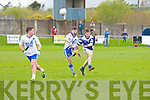 St Mary's Sean Cournane gets the better of his marker from Annascaul Ger Farrelly and gets another point in a nail biting finish to this County League game at The Con Keating Park in Cahersiveen on Sunday.  St Mary's 2-15 Annascaul 2-14.