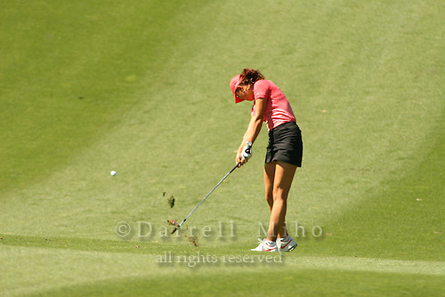 Apr. 2, 2006; Rancho Mirage, CA, USA; Michelle Wie hits an approach shot during the final round of the Kraft Nabisco Championship at Mission Hills Country Club. ..Mandatory Photo Credit: Darrell Miho.Copyright © 2006 Darrell Miho .