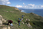 Hikers at Point Reyes Headland