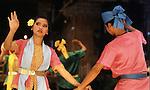 Dancers perform traditional dances in Bangkok, Thailand. (Jim Bryant Photo)....
