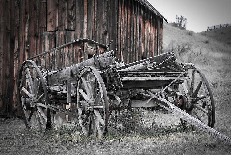 This old buckboard wagon can be seen at Bannack State Park in Montana. This ghostown is one of the best preserved in the country.