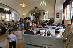 Israel, Jerusalem. Purim at Yeshuot Ya?acov Synagogue in the Me?a She?arim quarter, 2005<br />