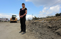 Pictured: Forensic anthropologist and archaeologist Gaille Mackinnon at the second site in Kos, Greece. Thursday 13 October 2016<br />