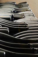 Bottles aging in the cellar. Domaine Pascal Jolivet, Sancerre, Loire, France