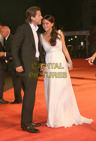 "HARRY MORTON & LINDSAY LOHAN.""Bobby"" Premiere during The 63rd International Venice Film Festival held at Palazzo del Cinema, Lido, Italy..September 5th, 2006.Ref: ADM/ZL.full length white dress gown silver diamante straps black suit.www.capitalpictures.com.sales@capitalpictures.com.©Zach Lipp/AdMedia/Capital Pictures."