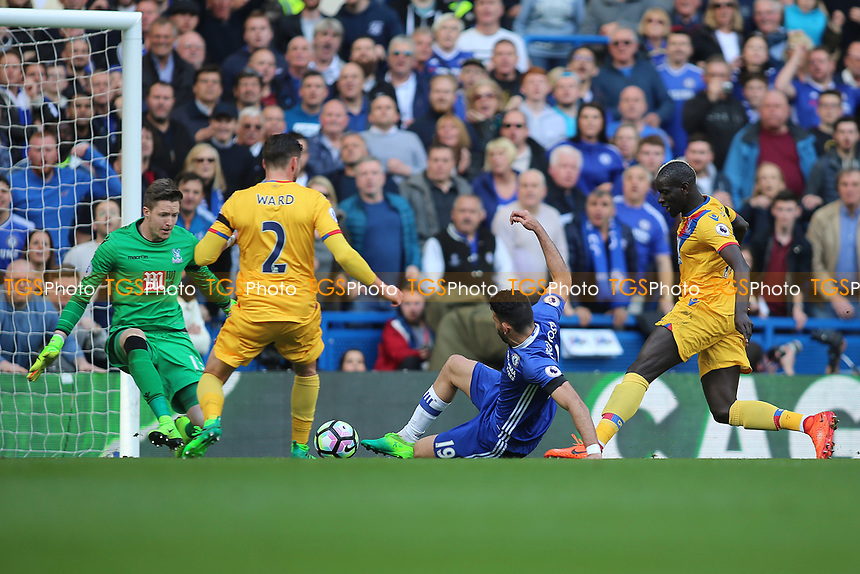Diego Costa of Chelsea has an attempt saved by Wayne Hennessey of Crystal Palace during Chelsea vs Crystal Palace, Premier League Football at Stamford Bridge on 1st April 2017