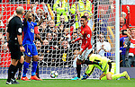 Chris Smalling of Manchester United celebrates after scoring his sides first goal  during the Premier League match at Old Trafford Stadium, Manchester. Picture date: September 24th, 2016. Pic Sportimage