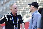 06 December 2014: Professional Referees Organization (PRO) head Peter Walton (ENG) (left) with ESPN broadcaster Kasey Keller (right). Major League Soccer held a training sessions at the StubHub Center in Carson, California one day before the Los Angeles Galaxy hosted the New England Revolution in MLS Cup 2014.